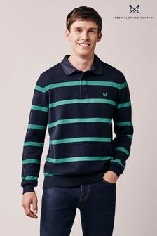 Crew Clothing Rugby-Strickoberteil mit Streifen, Blau