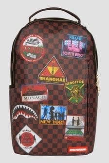 Sprayground Kids Brown Travel Patches Backpack