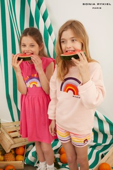 Sonia Rykiel Paris Pink Rainbow Logo Dress