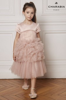 Charabia Pink Tulle Sparkly Dress