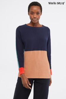 White Stuff Blue Avenue Colourblock Jumper