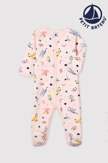 Petit Bateau Pink Multicoloured Sleepsuit