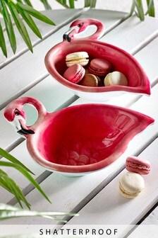 Flamingo Set of 2 Condiment Bowls