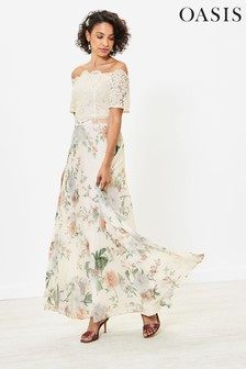 Oasis Lace Barbot Bridesmaid Dress