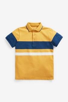 Colourblock Short Sleeve Polo Shirt (3-16yrs)