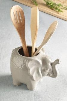 Elephant Utensil Pot