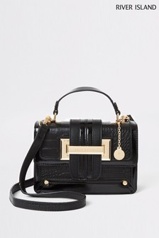 River Island Black Satchel