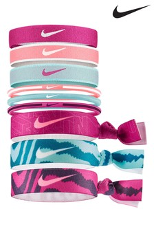 Nike Pink Ponytail Holders 9 Pack
