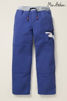 Mini Boden Navy Appliqué Pull-On Trousers