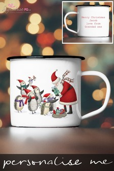 Personalised Santa Enamel Mug by Signature PG