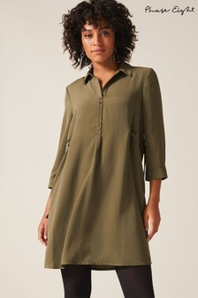 Phase Eight Green Esi Eyelet Tunic
