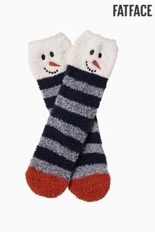 FatFace Blue Cosy Snowman Socks