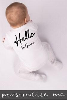 Personalised Hello I'm.. Sleepsuit