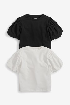 2 Pack Puff Sleeve T-Shirts (3-16yrs)