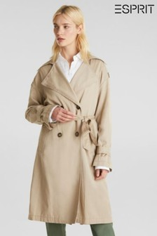 Esprit Cream TENCEL™ Trench Coat