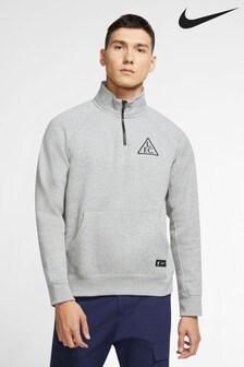 Nike Grey Liverpool Fleece Half Zip Top