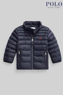 Ralph Lauren Baby Navy Logo Padded Jacket