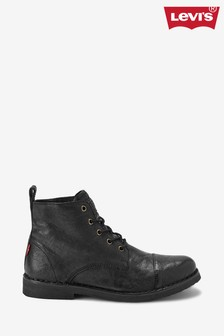 Levi's® Black Leather Lace-Up Boots