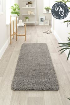 My Rug Grey Washable And Stain Resistant And So Soft Textured Rug