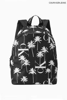 Calvin Klein Black Palm Print Backpack