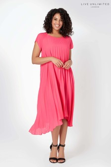 Live Unlimited Pink Pleated Dress