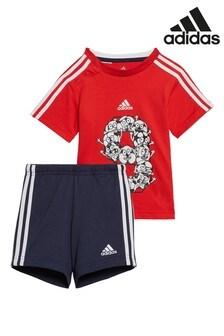 adidas Infant Football T-Shirt and Short Set