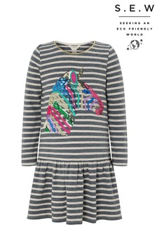 Monsoon S.E.W Zebra Sequin Stripe Sweat Dress