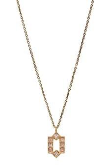 Oliver Bonas Gold Rene Deco Frame Plated Pendant Necklace