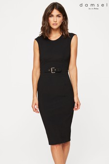 Damsel In A Dress Black Sofie Fitted Dress