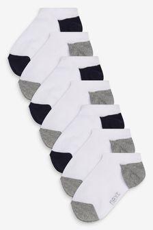 7 Pack No Show Cotton Rich Trainer Socks