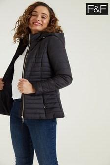 F&F Epp Short Padded Black Coat