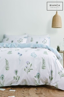 Bianca Meadow Flowers Egyptian Cotton Duvet Cover and Pillowcase Set