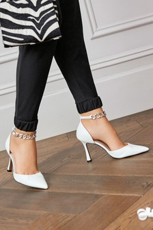 Ankle Chain Two Part Heel Shoes