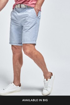 Belted Oxford Chino Shorts