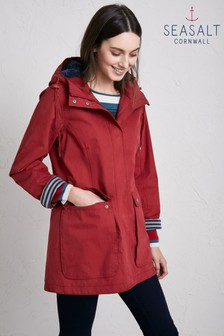 Seasalt Red Maenporth Coat