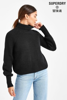 Superdry Amy Ribbed Roll Neck Jumper