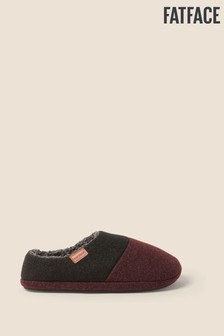 FatFace Red Maddox Col Block Slippers