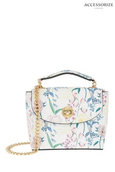Accessorize Natural Meghan Printed Cross-Body Bag