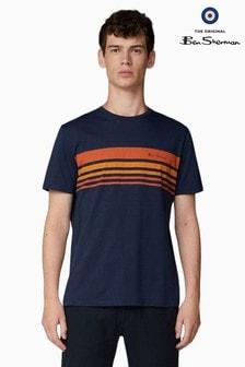 Ben Sherman Navy Sports Influenced Jersey T-Shirt