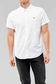 Hollister White Slim Shirt