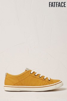 FatFace Mustard Organic Lace-Up Trainers