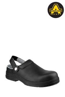 Amblers Safety Black Fs514 Antistatic Slip-On Safety Clogs