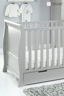 Obaby Stamford Classic Warm Grey Cot Bed