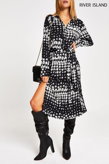 River Island Black Rupert/Moore Shirt Dress