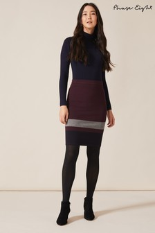 Phase Eight Red Celine Colourblock Skirt