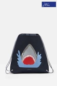 Joules Blue Active Shark Drawstring Bag