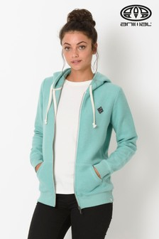 Animal Green Palmira Zip Through Hoody