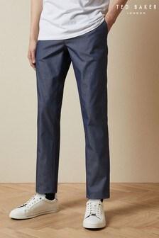 Ted Baker Blue Telfone Semi Plain Trousers