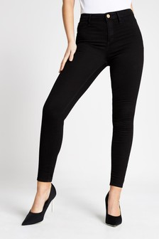 River Island Black Molly Jeggings