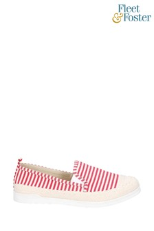 Fleet & Foster Red Paradise Nautical Espadrille Loafers
